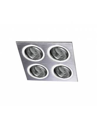 CRISTALRECORD Helium 4 lights recessed light aluminium