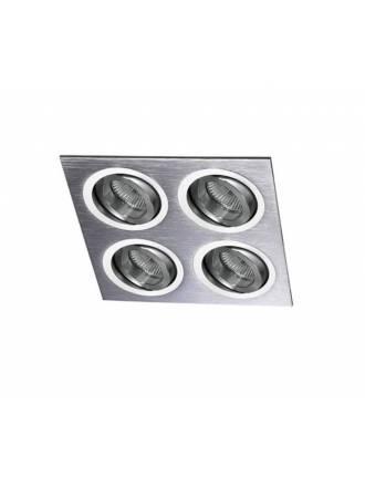 Foco empotrable Helium 4 luces aluminio - Cristalrecord