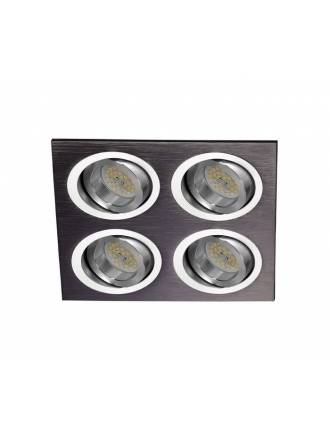 CRISTALRECORD Helium 4 lights recessed light black