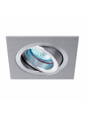 Foco empotrable A308 cuadrado aluminio - Roilux