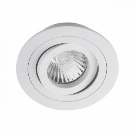 CRISTALRECORD Helium round recessed light white
