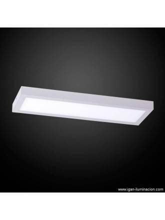 Plafon de techo Planium LED 36w plata - Irvalamp