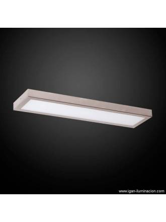 Plafon de techo Planium LED 36w acero inox - Irvalamp