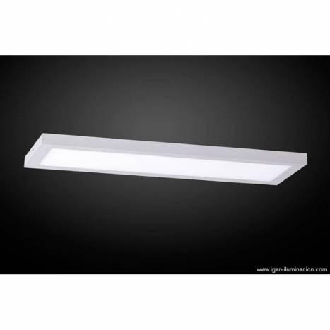 Plafon de techo Planium LED 68w plata - Irvalamp