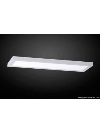 Plafon de techo Planium LED 68w acero inox - Irvalamp