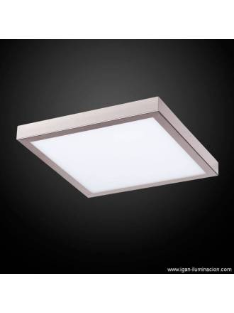 Plafon de techo Planium LED 73w acero inox - Irvalamp