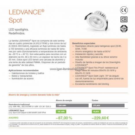 OSRAM Ledvance Spot adjust LED 6.5w