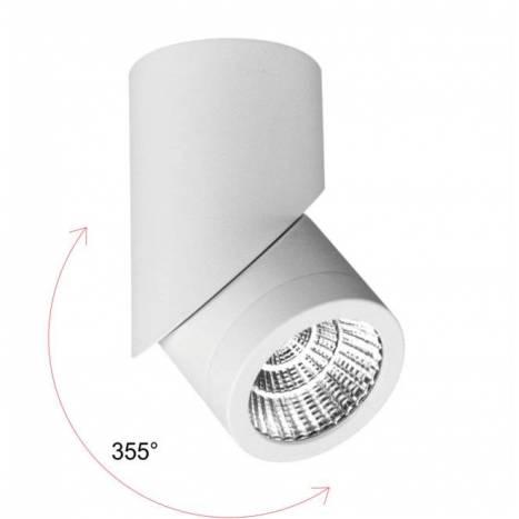 Foco de superficie Plus LED 7w blanco - Beneito Faure
