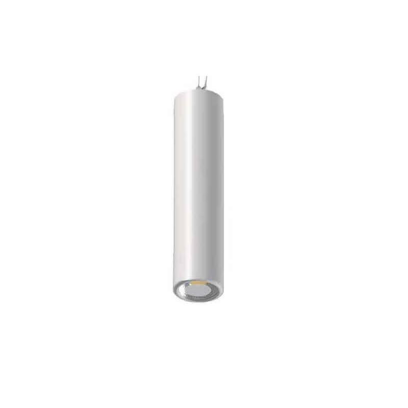 L mpara colgante tubi 1 luz led 8w blanco daviu for Lamparas colgantes led
