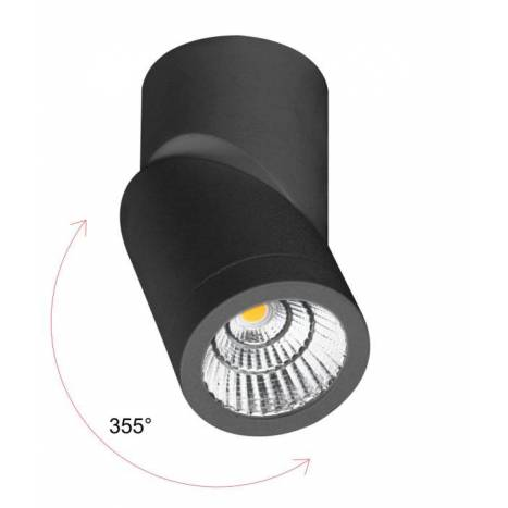Foco de superficie Plus LED 7w negro - Beneito Faure
