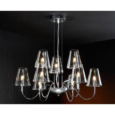 SCHULLER Silva pendant lamp 9 lights LED