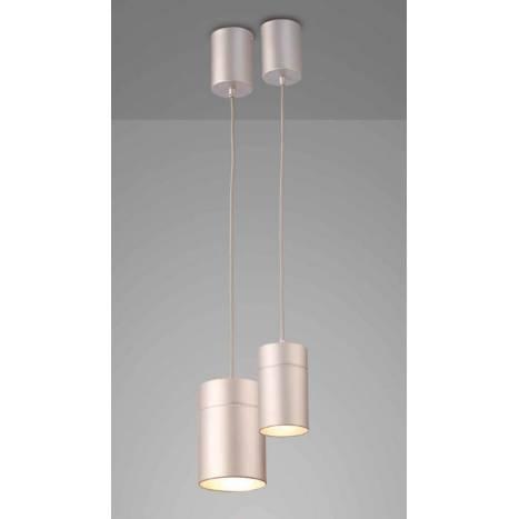 Lámpara colgante Aruba 1 luz 5624 gris plata - Mantra