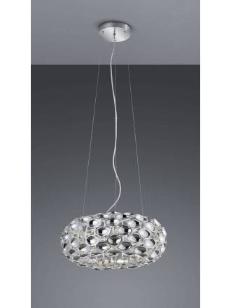 TRIO Spoon pendant lamp 3L chrome