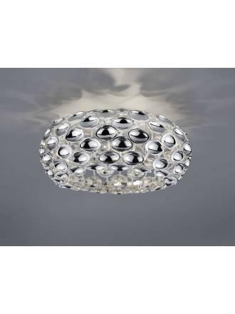 TRIO Spoon ceiling lamp 3L chrome