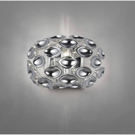 TRIO Spoon wall lamp 1L chrome