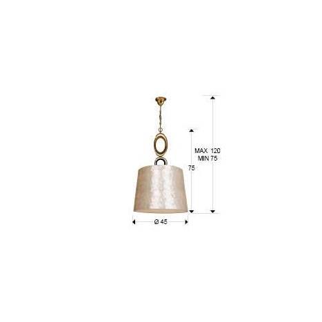 Lámpara colgante Eden 3 luces pan de oro - Schuller