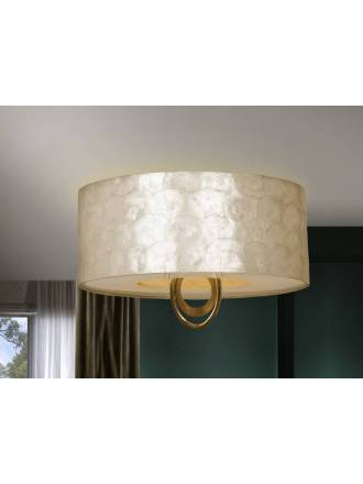 SCHULLER Eden ceiling lamp 4 lights gold leaf