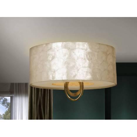 SCHULLER Eden ceiling lamp 4 lights gold leaf
