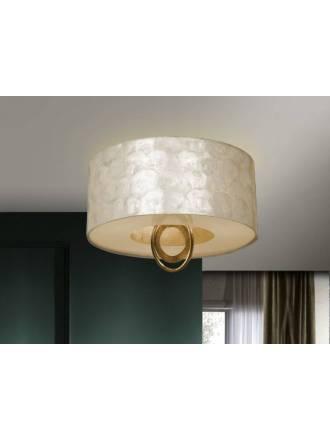 Plafón de techo Eden 3 luces pan de oro - Schuller