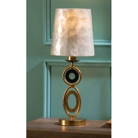 Lámpara de mesa Eden 1 luz pan de oro - Schuller