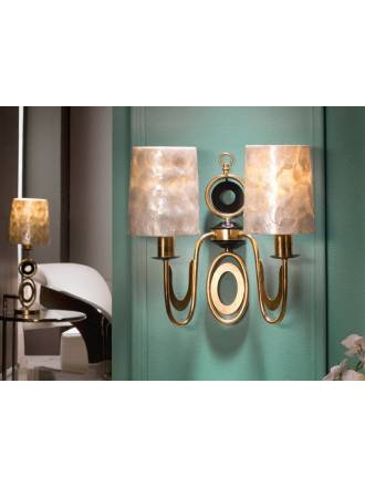 SCHULLER Eden wall lamp 2 lights gold leaf