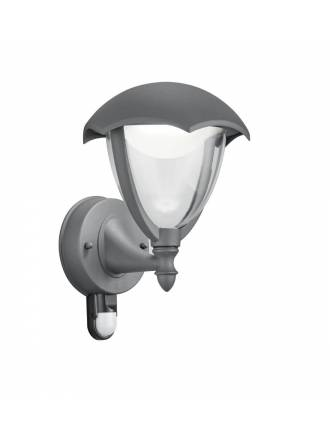 Aplique de pared Gracht LED antracita + detector - Trio
