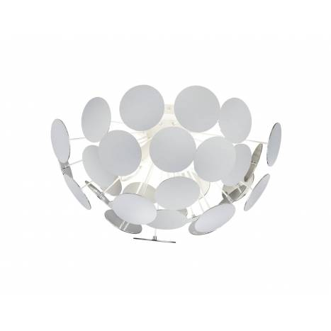 TRIO Discalgo ceiling lamp 3L white