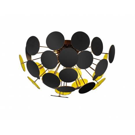 TRIO Discalgo ceiling lamp 3L black