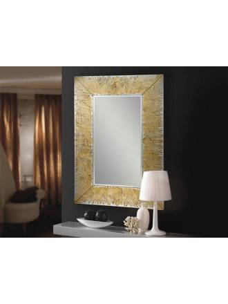 Espejo de pared rectangular Aurora pan de oro - Schuller