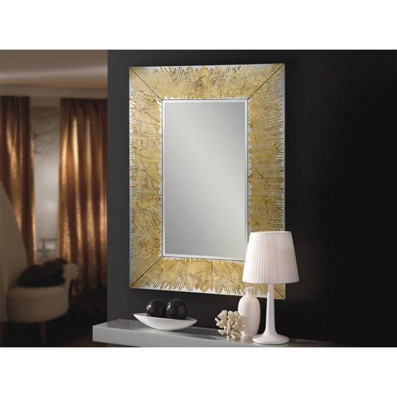 Espejo de pared rectangular aurora pan de oro schuller for Espejo rectangular pared