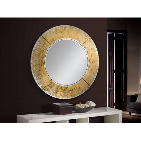 Espejo de pared circular Aurora pan de oro - Schuller