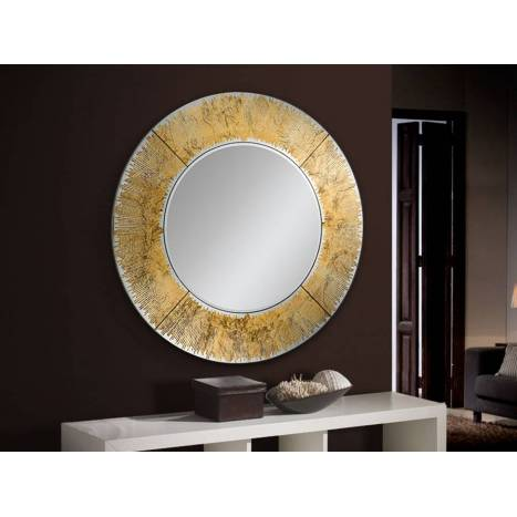 SCHULLER Aurora wall mirror circular gold leaf