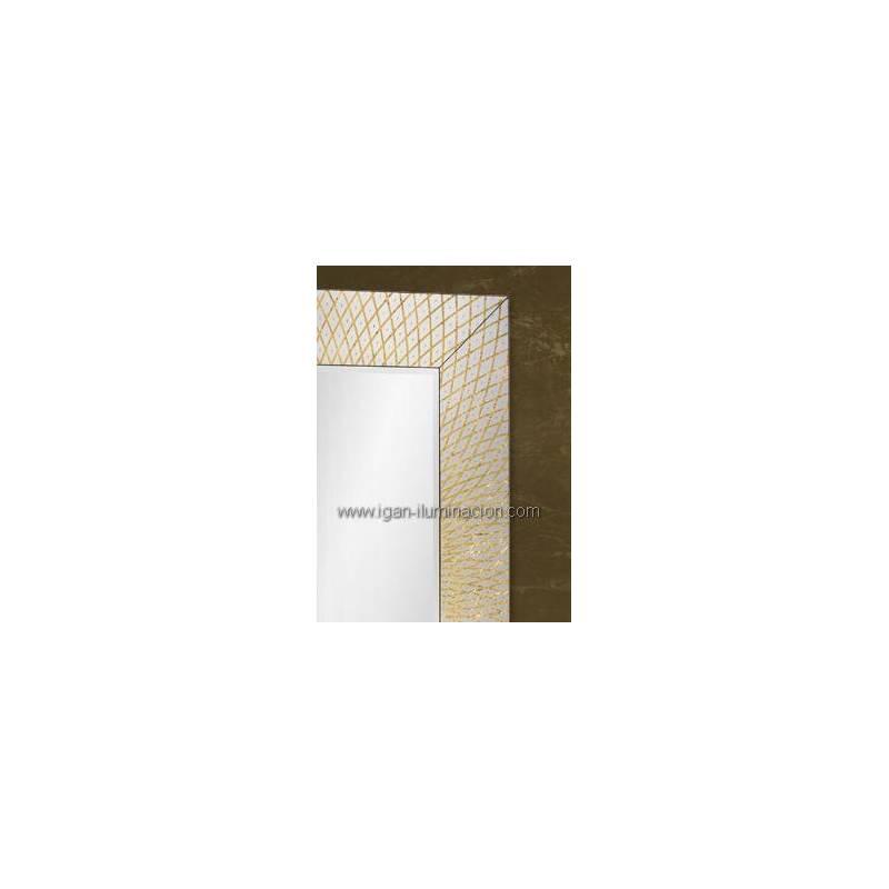 espejo de pared rectangular hermes pan de oro schuller