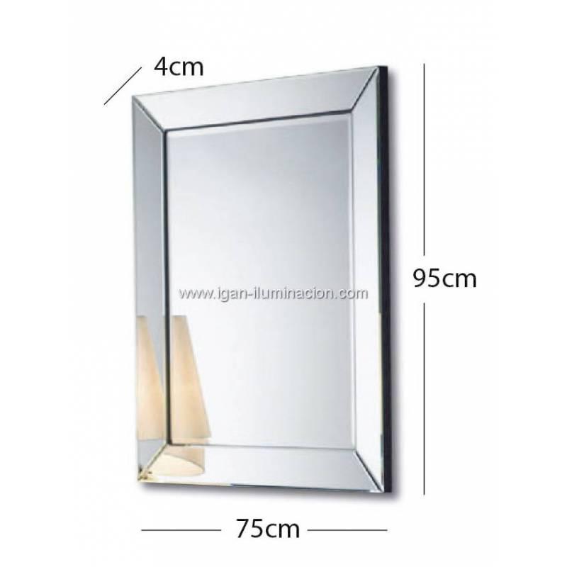 Espejo de pared roma rectangular schuller for Espejo rectangular pared