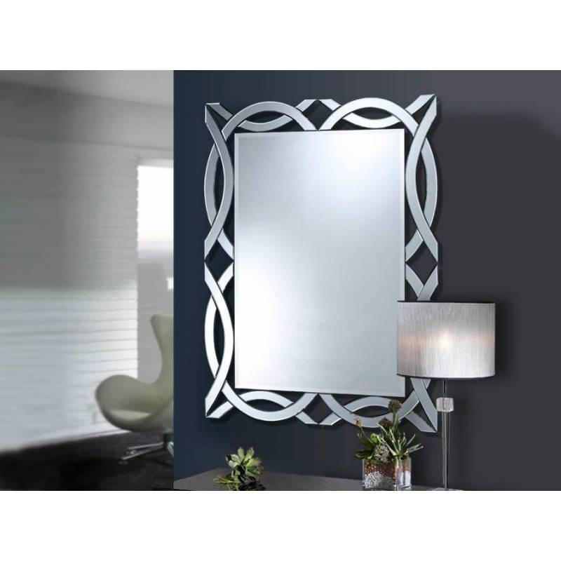 espejo de pared alhambra rectangular cm schuller