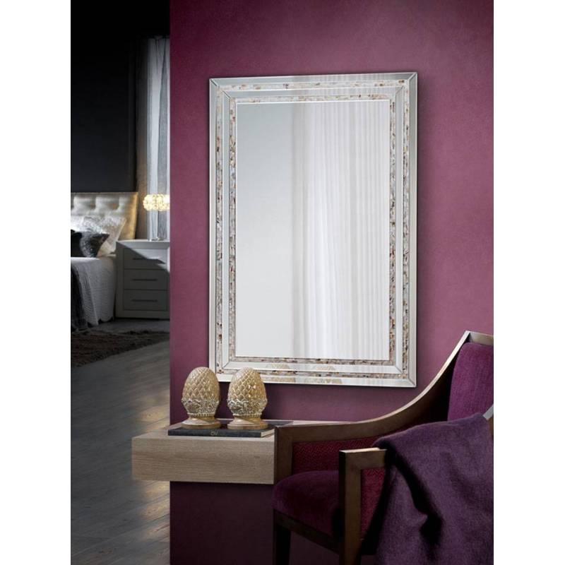 espejo de pared nacar rectangular 120cm schuller