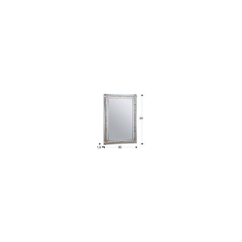 espejo de pared nacar rectangular cm schuller