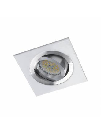 CRISTALRECORD Helium square recessed light white-chrome