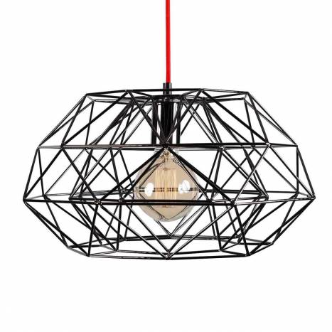 FILAMENT STYLE Diamond 7 pendant lamp black