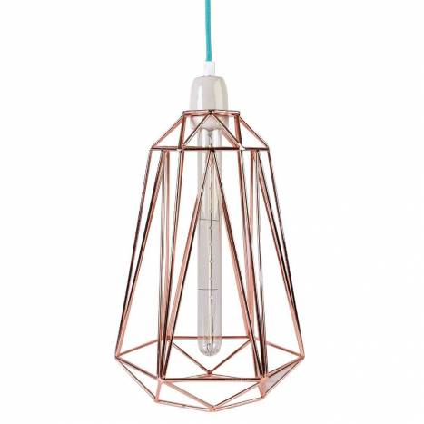 FILAMENT STYLE Diamond 5 lamp copper