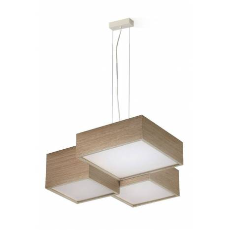 OLE by FM Kube pendant lamp LED 30w wood