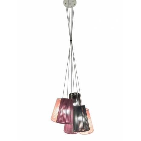 Lámpara colgante Bouquet colores - Ole