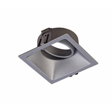 Foco empotrable Comfort cuadrado plata de Mantra