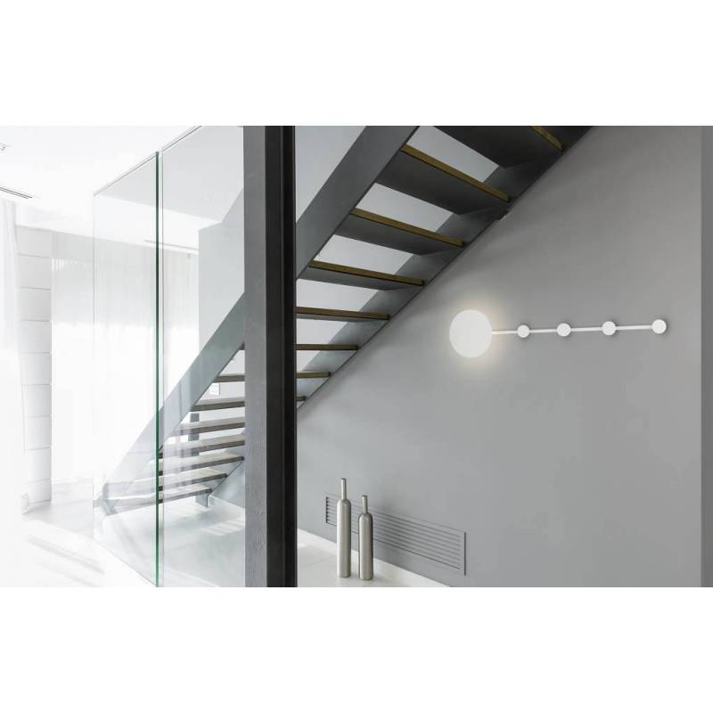 Wall Lamps White : FARO Han wall lamp LED white