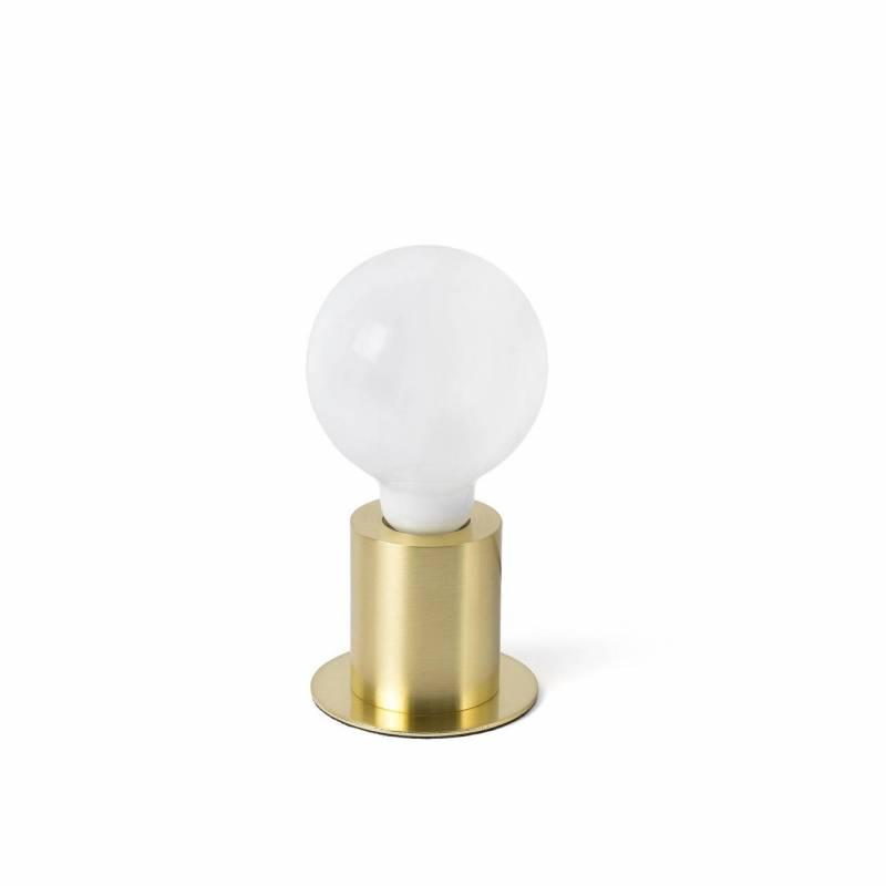 FARO Ten E27 table lamp satin gold