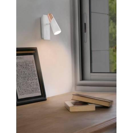 FARO Lao wall lamp LED 1 light white