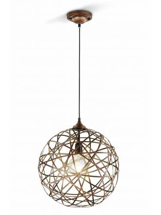 TRIO Jacob pendant lamp 1L copper