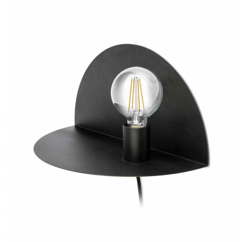 Symphony Wall Lights Black : FARO Nit wall lamp 1 light black