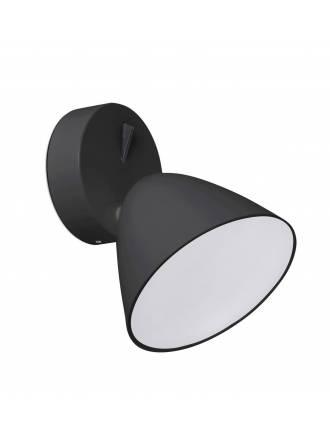 Aplique de pared Flash LED 1 luz negro - Faro