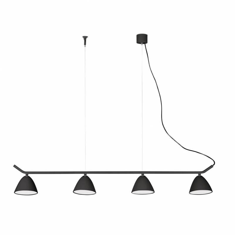 FARO Flash pendant lamp LED 4 lights black
